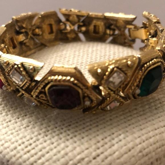 Vintage chunky multi coloured stones bracelet